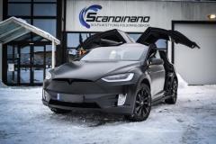 Tesla X Foliert i Black Satin by Scandinano_-3