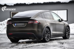 Tesla X foliert i Satin Gold Dust Black Scandinano-8