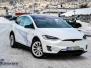 Tesla X Foliert med White Pacific Blue