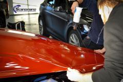Tesla X foliert med  Gloss Fiery Orange