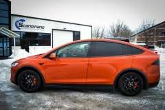 Tesla X foliert o Gloss Fiery Orange Scandinano-5