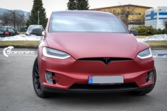 Tesla X model foliert i matt lakkbeskyttelsesfilm Scandinano-2