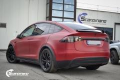 Tesla X model foliert i matt lakkbeskyttelsesfilm Scandinano-4