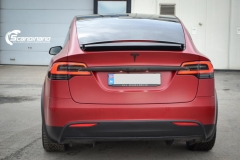 Tesla X model foliert i matt lakkbeskyttelsesfilm Scandinano-5