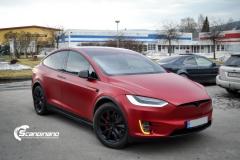 Tesla X model foliert i matt lakkbeskyttelsesfilm Scandinano