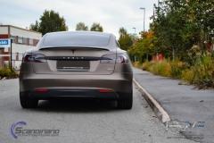 Teslo Model S foliert i Matt frozen Bronze-2