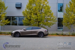 Teslo Model S foliert i Matt frozen Bronze-3