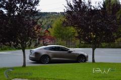 Teslo Model S foliert i Matt frozen Bronze-5