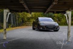 Teslo Model S foliert i Matt frozen Bronze-7