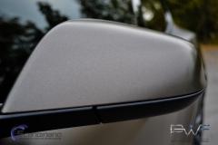 Teslo Model S foliert i Matt frozen Bronze-9