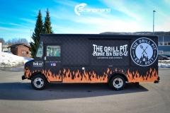 The Grill Pit  truck helfoliert med print folie-2