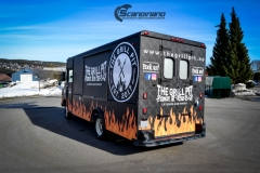 The Grill Pit  truck helfoliert med print folie-3