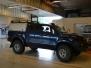 Toyota Hilux foliert med matt andonized blue pwf