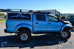 Toyota hilux foliert I matt andonized blue pwf-8