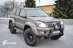 Toyota land cruiser helfoliert med Matt Frozen Brozne Metallic