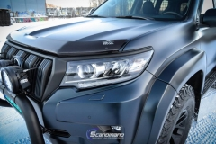 Toyota Land Cruiser helfoliert med matt lakkbeskyttelsesfilm-5