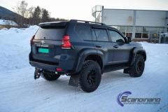Toyota Land Cruiser helfoliert med matt lakkbeskyttelsesfilm-7
