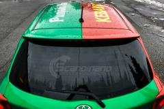 Toyota Yaris helfoliert i 2 farger Gloss Green Envy, Gloss Dragon Fire Red (5 из 7)