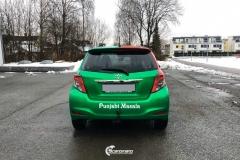 Toyota Yaris helfoliert i 2 farger Gloss Green Envy, Gloss Dragon Fire Red (7 из 7)