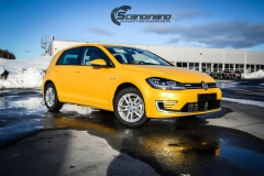 Volkswagen e-Golf foliert med Matt Sunflower fra PWF-14
