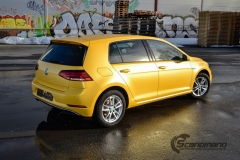 Volkswagen e-Golf foliert med Matt Sunflower fra PWF-16