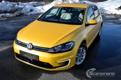Volkswagen e-Golf foliert med Matt Sunflower fra PWF-17