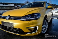 Volkswagen e-Golf foliert med Matt Sunflower fra PWF-18