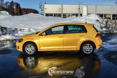 Volkswagen e-Golf foliert med Matt Sunflower fra PWF-9