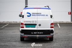 Volkswagen Transporter profilert for Malerservice AS-8-2
