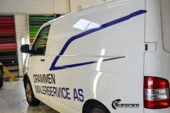 Volkswagen Transporter profilert for Malerservice AS-8