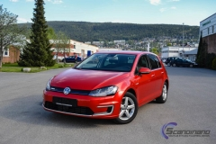 vw Golf red